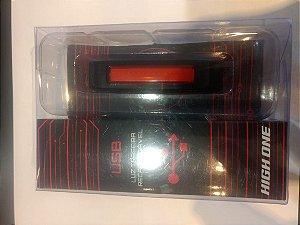Luz Traseira HIGH ONE com Carregador USB Vermelho