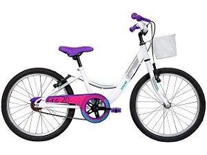 Bicicleta Infantil CALOI Ceci 2020 Aro 20 Branco/Rosa