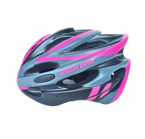 Capacete HIGH ONE Bike MTB Volcan New com Luz Cinza/Lillas - M