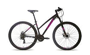Bicicleta AUDAX Havok FX Aro 29/ 21v Preto/Rosa  - Tam. 13