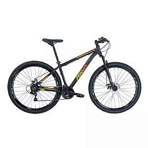 Bicicleta RAVA Pressure 2020 Aro 29/21V Preto/Vermelho/Amarelo - Tam. 17