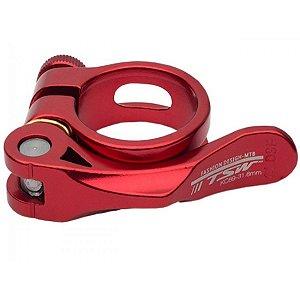 Abraçadeira de Selim TSW Aluminio 34.9 com Blocagem - Vermelho