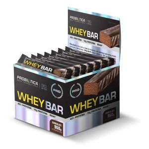 Barra de Proteina PROBIOTICA Whey Bar Chocolate - 24 UN