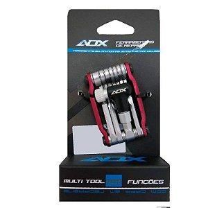 Kit de Ferramentas AUDAX Canivete 12 Funções - Vermelho