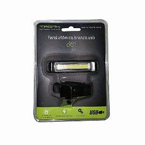 Farol Dianteiro TRONIK USB Recarregável - Luz Branca
