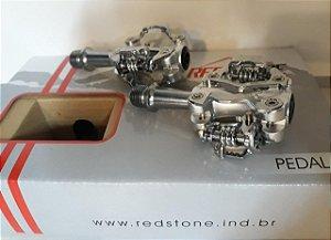 Pedal Clip de Alumínio REDSTONE Preto