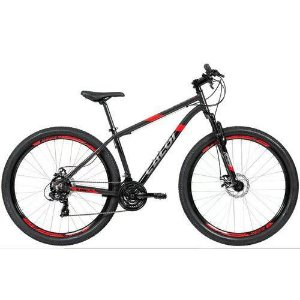 Bicicleta CALOI Supra Aro 29/ 21V Cinza/ Vermelho - Tam. 17