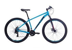 "Bicicleta HOUSTON Kamp Aro 29"" 21v Azul/ Vermelha-  Tam. 17"