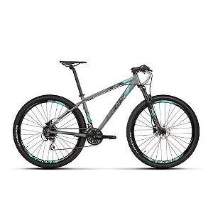 Bicicleta SENSE Fun 2020 24v Cinza/ Verde - Tam. 17