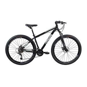 Bicicleta RAVA Pressure 2020 Aro 29/24V Preto/Branco - TAM. 17