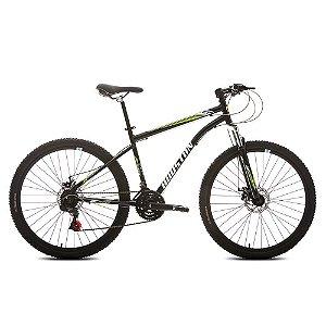 Bicicleta HOUSTON Netuno Aro 27,5/21V Preto/Verde - Tam. 17
