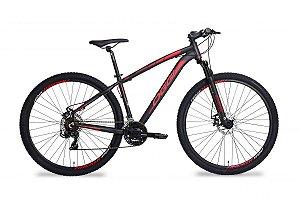 Bicicleta OGGI Hacker Sport Aro 29/21V Preto/Vermelho - Tam. 17
