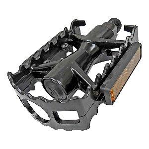Pedal c/Esfera Ingles Aluminio MTB Preto