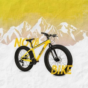 """Bicicleta REDSTONE FatBoy Aro 26""""/ 24v Amarelo/ Preto - Tam. 17"""