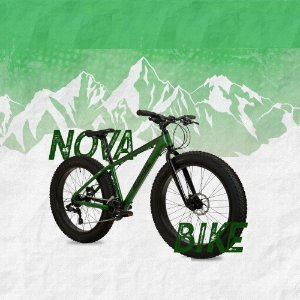 """Bicicleta REDSTONE FatBoy Aro 26""""/ 24v Verde Militar/ Preto - Tam. 17"""