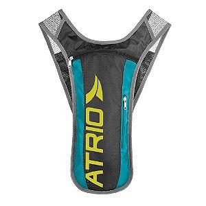 Mochila de Hidratação ATRIO Sprint Reservatório para Água de 1,5 -  Cinza/Azul -BI052