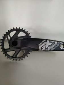 Pedivela SRAM GX com Coroa Eagle 34t Direct Mount Boost 3mm Offset e Movimento Central GXP - USADO