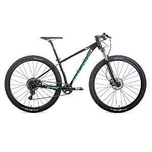Bicicleta AUDAX  Auge 555 NX 2019 Aro 29/ 11V Preto/Azul/Amarelo - Tam. 17