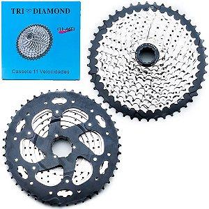 Cassete TRI DIAMOND 11V 11-46T Prata
