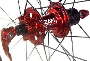 Cubo Traseiro VZAN V16 Everest MGCi 28 Furos 142x9mm Vermelho ( Padrão Shimano)