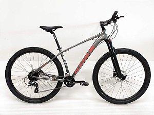 Bicicleta AUDAX Havok TX 2020 Aro 29/ 24V Cinza/Vermelho - Tam. 17