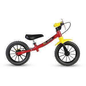 Bicicleta Masculina NATHOR Balance Fast Vermelho/Amarelo