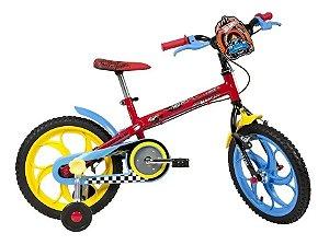 Bicicleta CALOI HOT WHEELS Aro 16 Vermelho