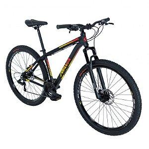 Bicicleta TSW Rava Pressure 21V Preto/Amarelo/Vermelho - Tam. 19