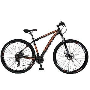 Bicicleta SOUTH Legend Preto/Laranja - Tam. 15