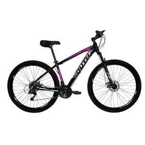 Bicicleta SOUTH Legend Preto/Rosa - Tam. 15