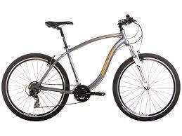 Bicicleta HOUSTON HT Aro 27,5 21V Cinza/Laranja - Tam. 17