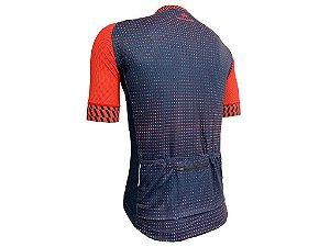 Camisa Marelli Europa Dot Vermelha/Azul - TAM.P