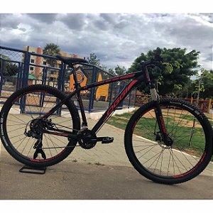 Bicicleta OGGI Hacker Sport Preto/Vermelho - Tam. 19