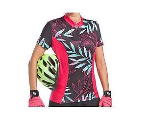 Camisa KANXA Ciclismo Feminino Floral - Tam. G