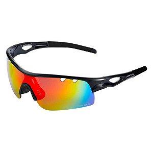 Oculos de Ciclismo VENZO Revo C/ 1 Lente Preto