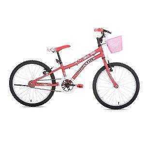 Bicicleta Houston NINA Aro-20 Rosa Fosco c/ Cesta Rosa Fosco