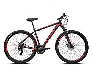 Bicicleta ALFAMEQ ATX Aro 29 21V  Preto/Vermelho  - Tam.17