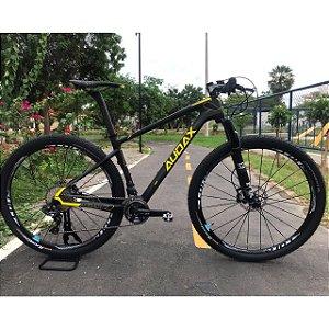Bicicleta AUDAX AUGE 40 DI2 Preto/Amarelo Tam - 17