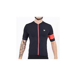Camisa DX3 Ultra Masculino 01 / Preto/Vermelho - Tam. M