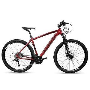 Bicicleta SOUTH Legend 21V Preto/Vermelho - Tam. 19
