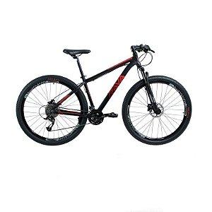 Bicicleta RAVA PRESSURE Aro 29 21V Preto/Vermelho - Tam. 17