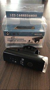 Farol USB Mini com Sensor Indicador de Bateria