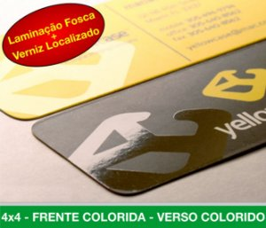 Cartão de Visita 1.000 Unid. - BOPP + VERNIZ LOCALIZADO + CANTOS ARREDONDADOS