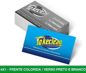 Cartão de Visita 3.000 Unid - Frente Colorida Verso Preto e Branco