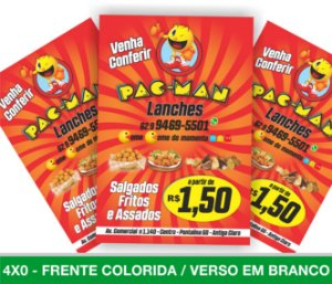 5.000 PANFLETOS 10x15cm - Frente Colorida - 4x0 - Papel Couche 90g