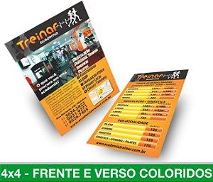 5.000 PANFLETOS 15x20cm - Frente e Verso Coloridos - 4x4 - Papel Couche 115g
