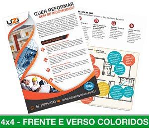 5.000 PANFLETOS 10x15cm - Frente e Verso Coloridos - 4x4 - Papel Couche 115g