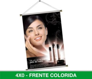Banner Digital 80x50cm - Lona 440g - Com Madeirinha ou Ilhós