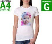 Camisetas FEMININAS Personalizadas Brancas em poliester - P - M - G - GG