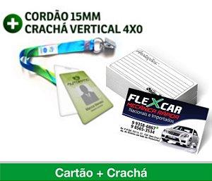 1.500 CARTÕES DE VISITA + 1 CRACHÁ COM CORDINHA